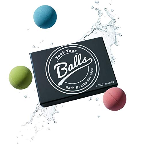 Men's Bath Bomb Set of 6 by Soak Your Balls