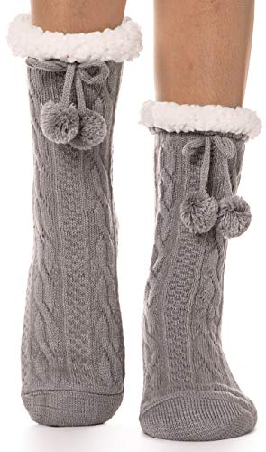 Womens Fuzzy Slipper Socks