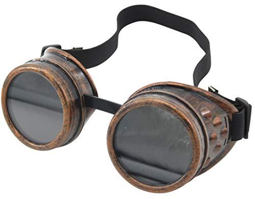 Yarizm Steampunk Goggles Rustic Copper Vintage Goggle Cyber