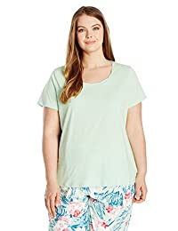 Jockey womens plus-size Plus Size Cotton Jersey Short Sleeve Top