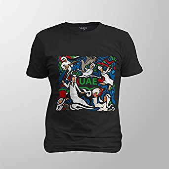 Antika Men T-Shirt Uae, Black, XXL