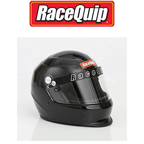 RaceQuip 273003 Gloss Black Medium PRO15 Full Face Helmet (Snell SA-2015 - Full Helmet Gloss Face