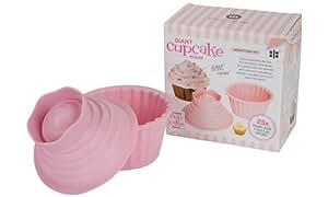 Ethos Project - Molde de silicona para cupcake gigante (2 piezas, en caja regalo), color rosa