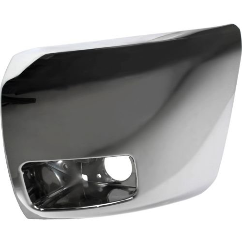 Make Auto Parts Manufacturing - DRIVER SIDE FRONT BUMPER END; CHROME; FOR USE WITH FOG LIGHTS; - GM1004156