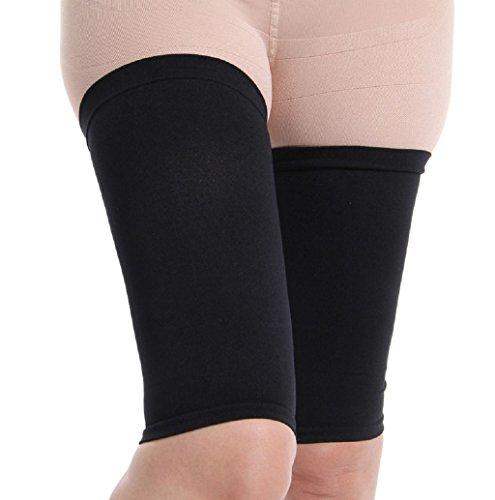 Price comparison product image Women Sport Elasticity Socks MOKAO Slimming Thighs Shaper Elastic Stretch Plastic leg socks set for Leg (Free Size, Black)