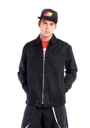 Kikwear Men's Microsuede DJ Jacket XL Black - Black Microsuede Jacket
