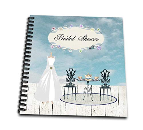 3dRose Wedding Dress Garden Tea Party, Bridal Party - Mini Notepad, 4 by 4-Inch (db_202192_3)
