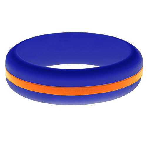 FLEX Ring - Womens Mens Blue Silicone Ring - Changeable Color Bands - Many Colors - Safe, Durable, Everyday Wear Wedding Band - 1 Ring - Sizes 4-16