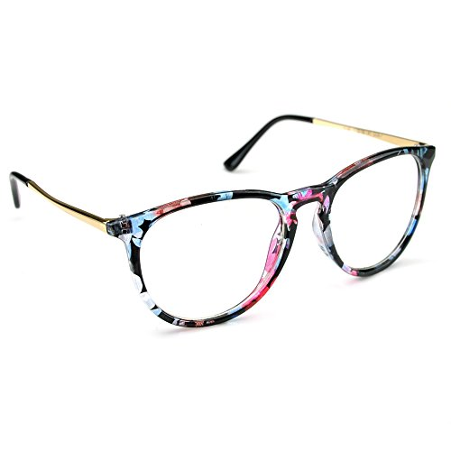 dfa4323da06 PenSee Womens Fashion Oversized Clear Lens Round Circle Eye Glasses. Click  image for Gallery
