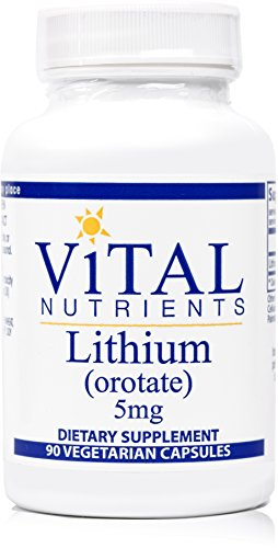 Vital Nutrients - Lithium (Orotate) 5 mg - Supports Mental and Behavioral Health - 90 Capsules