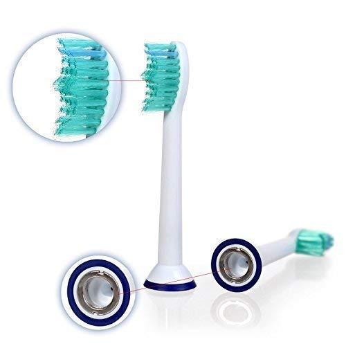 8 uds (2x4) de cabezales de recambio para cepillos de dientes E-Cron. Totalmente compatibles Cabezales Repuestos con Philips Sonicare ProResults, ...