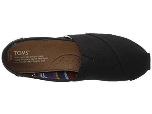 TOMS Women's Canvas Slip-On,Black Black,8.5 M by TOMS (Image #2)