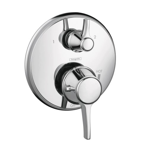 Hansgrohe 4449000 Metris C Pressure Balanced Valve Trim with Integrated Diverter, Chrome (Hansgrohe Set Metris Shower)
