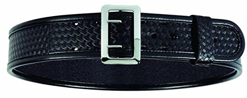 Sam Browne Belt Chrome Buckle (Bianchi 7965 BSK Black Ergotek Sam Browne Belt with Chrome (Size 34))