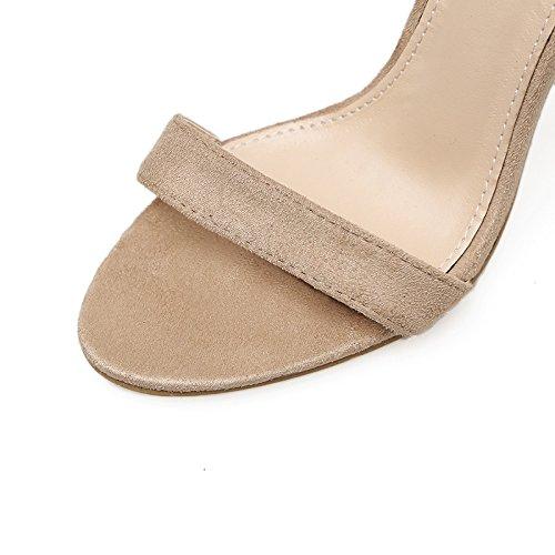 con asolati La e e con dispositivi fissaggio ZHZNVX sottile sexy ultra femmina sandali e apricot versatile scarpe terrazza estiva di Swddv0