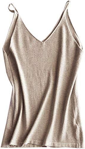 Betusline Women's Cashmere Blend Camisole Knit Cami Tank Top