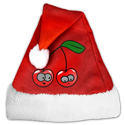 Velvet Santa Hat with Plush Trim, Two Size Fits Most for Adult's and Child ()