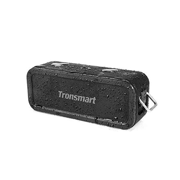 Haut-Parleur Bluetooth Enceinte sans Fil 40W, Tronsmart Force Speaker Waterproof Portable, étanche IPX7, Autonomie 15H, Technologie NFC & TWS,Compatibilité Android, Smartphone,Ordinateur 1