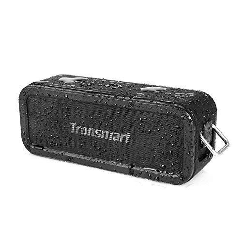 Tronsmart Altavoz Bluetooth [40 W] inalámbrico, portátil, resistente al agua IPX7, efectos Tri-Bass, TWS y NFC, tiempo…