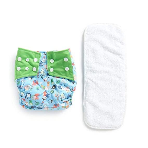 Polka Tots Reusable Cloth Diaper Pants for Babies Washable & Size Adjustable Snap Buttons