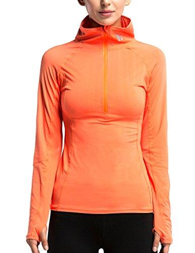 JIMMY DESIGN Damen Sport Shirt Funktionsshirt - Langarm und Neckholder - M