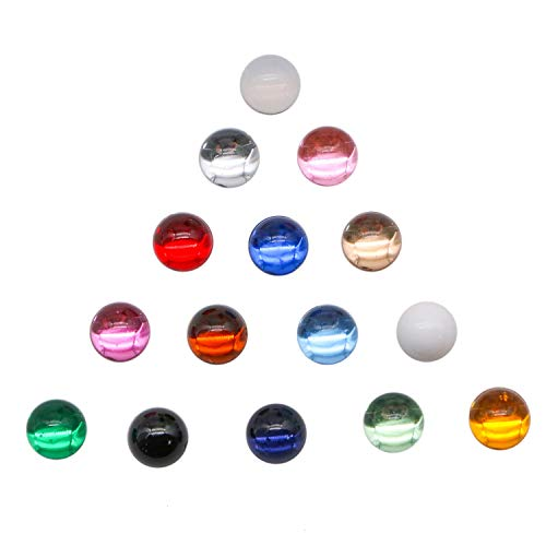 JETEHO 200 Pcs 10 mm Glass Cabochon Eyes Cat's Eye Glass Dome Cabochons Round Mixed