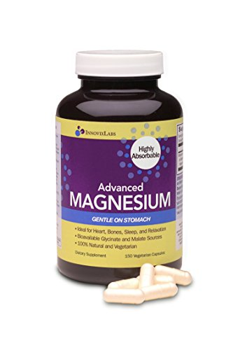 (InnovixLabs Advanced Magnesium with High Absorption Malate and Glycinate. Highly Bioavailable Chelated Magnesium - 200 mg per Serving. Soy and Gluten-Free, Non-GMO and Vegan. 150 Capsules.)