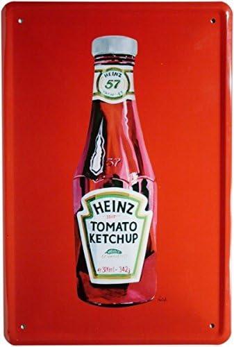Blechschild 20x30 Heinz Ketchup Reklame Werbung Essen Plakat Bar Küche Essen
