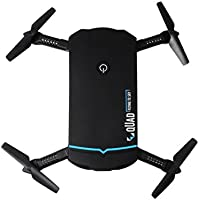 Owill Portable Mini 2.4G 6Axis HD Camera WIFI FPV RC Quadcopter Drone Selfie Foldable Aircraft (Black)