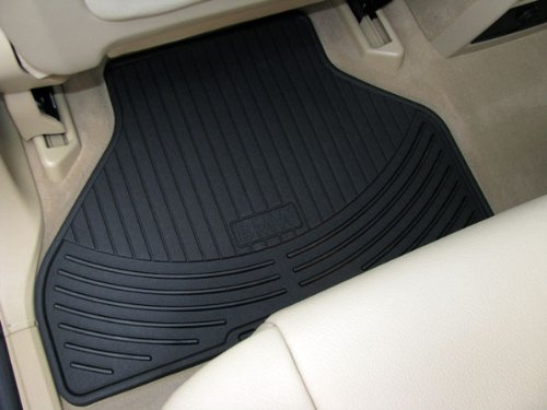BMW All Weather Rear Rubber Floor Mats 328 335 M3 Convertible (2007 onwards) - Black