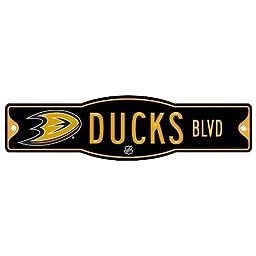 NHL Anaheim Ducks Sign, 4.5 x 17-Inch