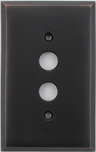 Classic Accents Oil Rubbed Bronze One Gang Push Button Light Switch Wall Plate