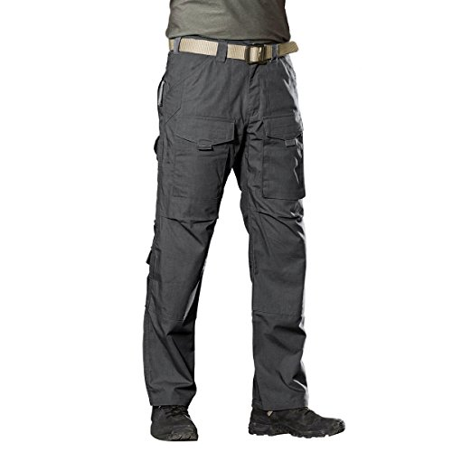FREE SOLDIER Outdoor Men Teflon Scratch-resistant Pants Four Seasons Hiking Climbing Tactical Trousers (Gray, 40W 32L)