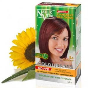 - Permanent Hair Dye, Permanent Hair Color. Coloursafe, No Ammonia,Resorcinol or Parabens (~5.5 Mahogany Red Hair)