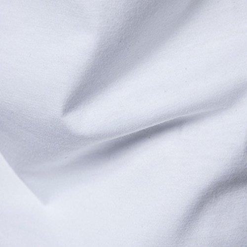 Longra Shirt Shirts Shirt Style Fit Kurzarmshirt im Slim Hip Print T Hipster Longshirt Shirts Druckblusen T Männer Hippies Hop Rundhals Mode Shirt White Ethno Herren 8wY7r8