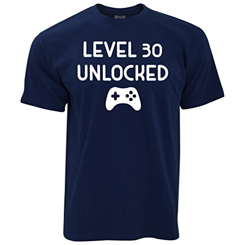 Level 30 Unlocked Birthday Gift For Gamers Gaming Controller Level Up 30 Year Old Pc Console Mens T-Shirt Cool Funny Gift Present For Men