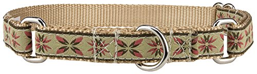 Country Brook Design Antique Flowers Woven Ribbon Martingale Dog Collar Limited Edition - Medium
