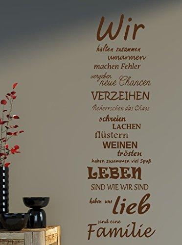 sprüche familie liebe Wandtattoo Spruch Familie family WIR Haus Liebe Sprüche Spruch ca  sprüche familie liebe
