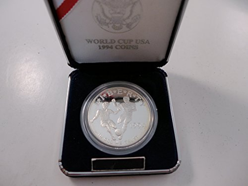(1994 World Cup USA Proof Silver Dollar $1 Mint State US)