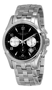 Hamilton Men's H32656133 Jazzmaster Black Chronograph Dial Watch