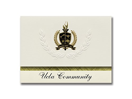 Signature Announcements Ucla Community (Los Angeles, CA) Graduation Announcements, Presidential style, Elite package of 25 with Gold & Black Metallic Foil seal