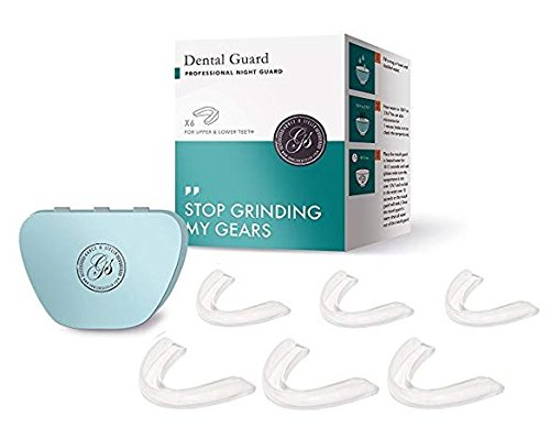 Professional Dental Mouth Guard - Pack Of 6 Dental Trays - Moldable Nighguards for Teeth Grinding, Bruxism, TMJ & Teeth Clenching - Includes Anti-Bacterial Tray Case - by Grace & Stella Co.