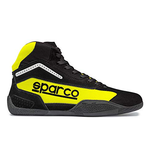 Sparco Gamma KB-4 Karting Shoe 001259 (Size: 40, Black/Yellow) - Karting Shoes