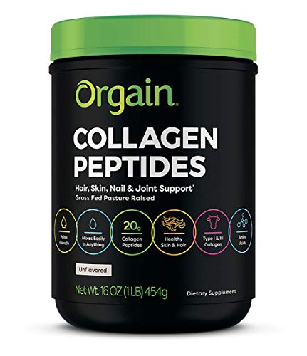 Orgain-Grass-Fed-Hydrolyzed-Collagen-Peptides-Protein-Powder-Paleo-Keto-Friendly-Amino-Acid-Supplement-Pasture-Raised-Gluten-Free-Dairy-Free-Soy-Free-Non-GMO-Type-I-and-III-1-Pound