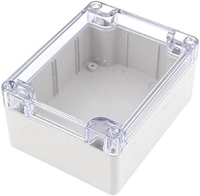 Cikuso Caja de proyecto electronico de conexiones de plastica de cubierta transparente impermeable 115x90x55mm