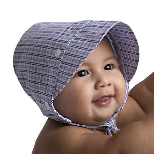 Huggalugs Baby & Toddler Boys Gents Plaid Bonnet UPF 50+ 3-6