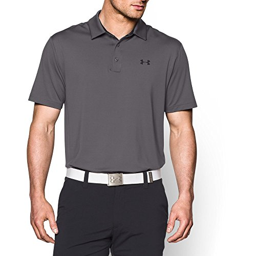 Performance Mens Golf Polo (Under Armour Men's Playoff Polo, Graphite/Black, Large)