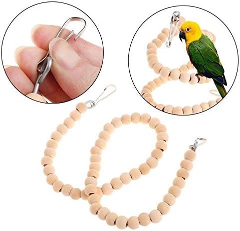 Creativo Escalera de caracol del loro Juguetes Oscilación del soporte del sostenedor de la perca Colgante jaula de madera natural productos de los pájaros Parakeet de Budgie Bite Chew Multi-diversión: Amazon.es: Productos