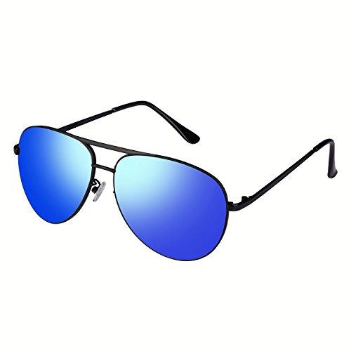 Smileyes Herren Sonnenbrillen UV400 Oval Form modern Blau TSGL001.01A
