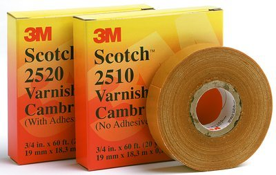 Scotch Varnished Cambric Tape 2510, 1 in x 36 yd